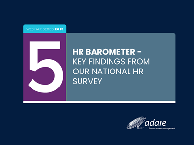 HR Barometer - Key findings from our national HR survey - 24th October 2019