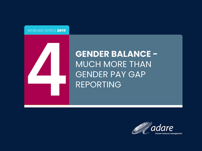 Gender Balance - Much more than Gender Pay Gap reporting - 1st October 2019