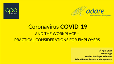 COVID-19 update - HR and Employment Law guidance at a time of unprecedented time - 6th April 2020